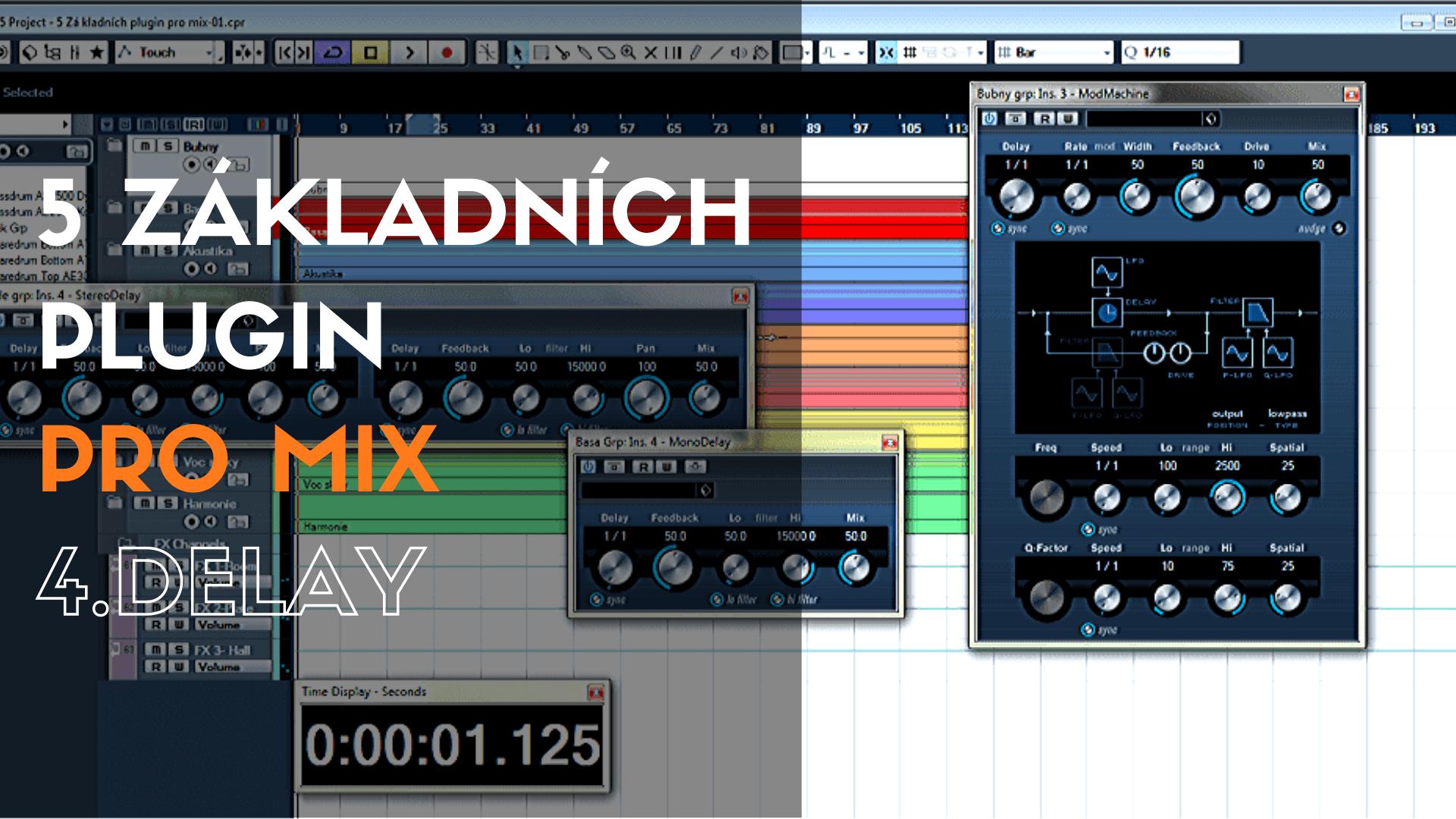 5 základních plugin pro mix – 4. Delay