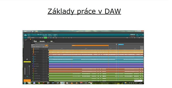 Základy práce v DAW – 4. Správa nahraných dat (video)