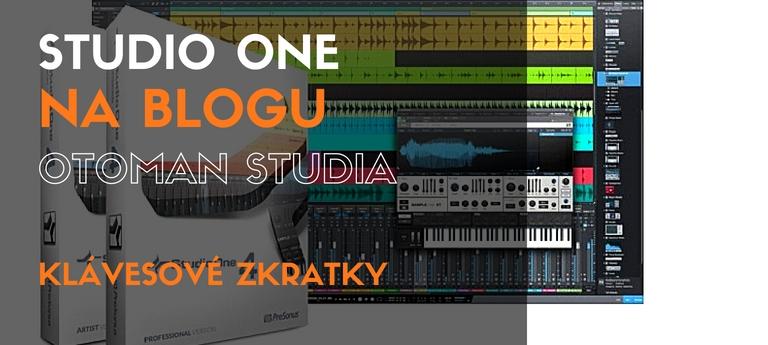 Studio One – Klávesové zkratky