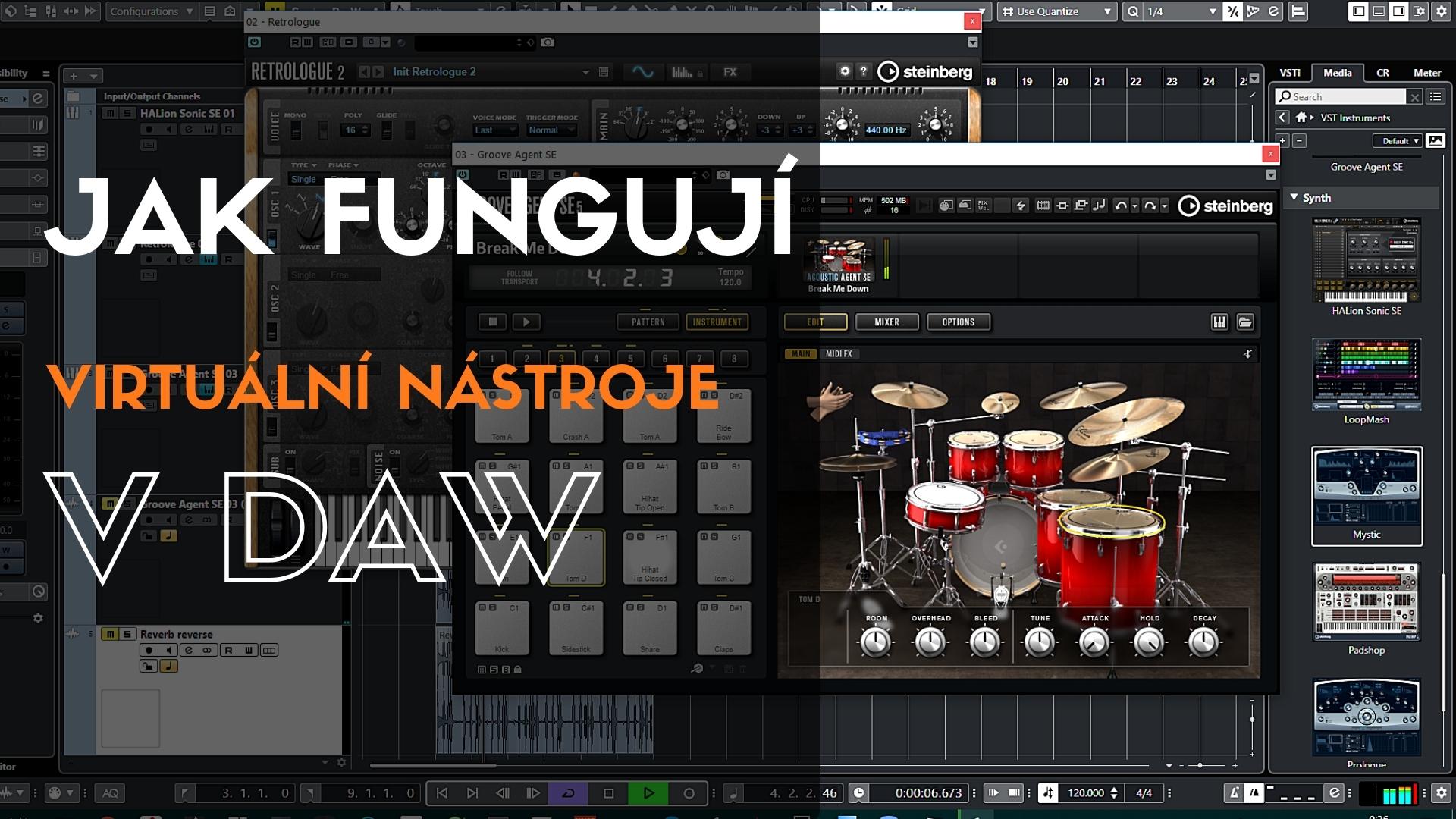 Jak fungují virtuální nástroje v DAW