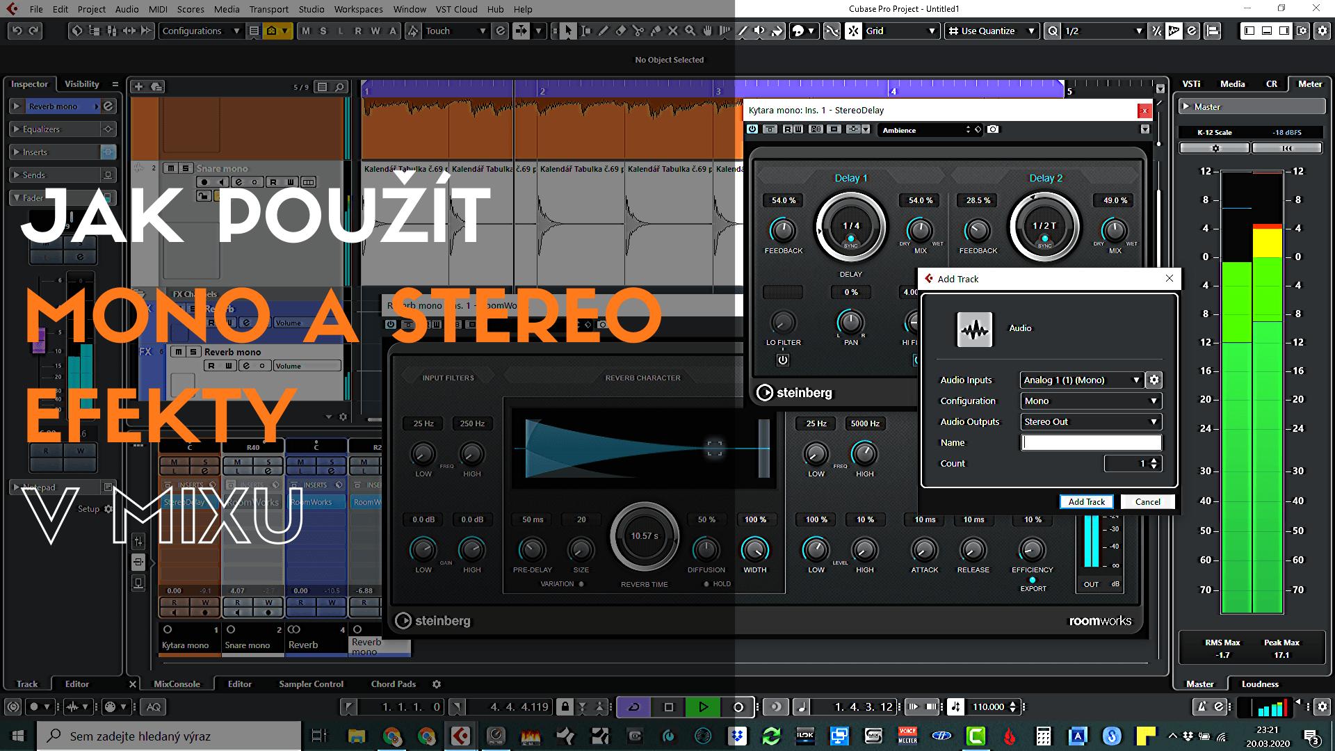 Jak použít mono a stereo efekty v mixu