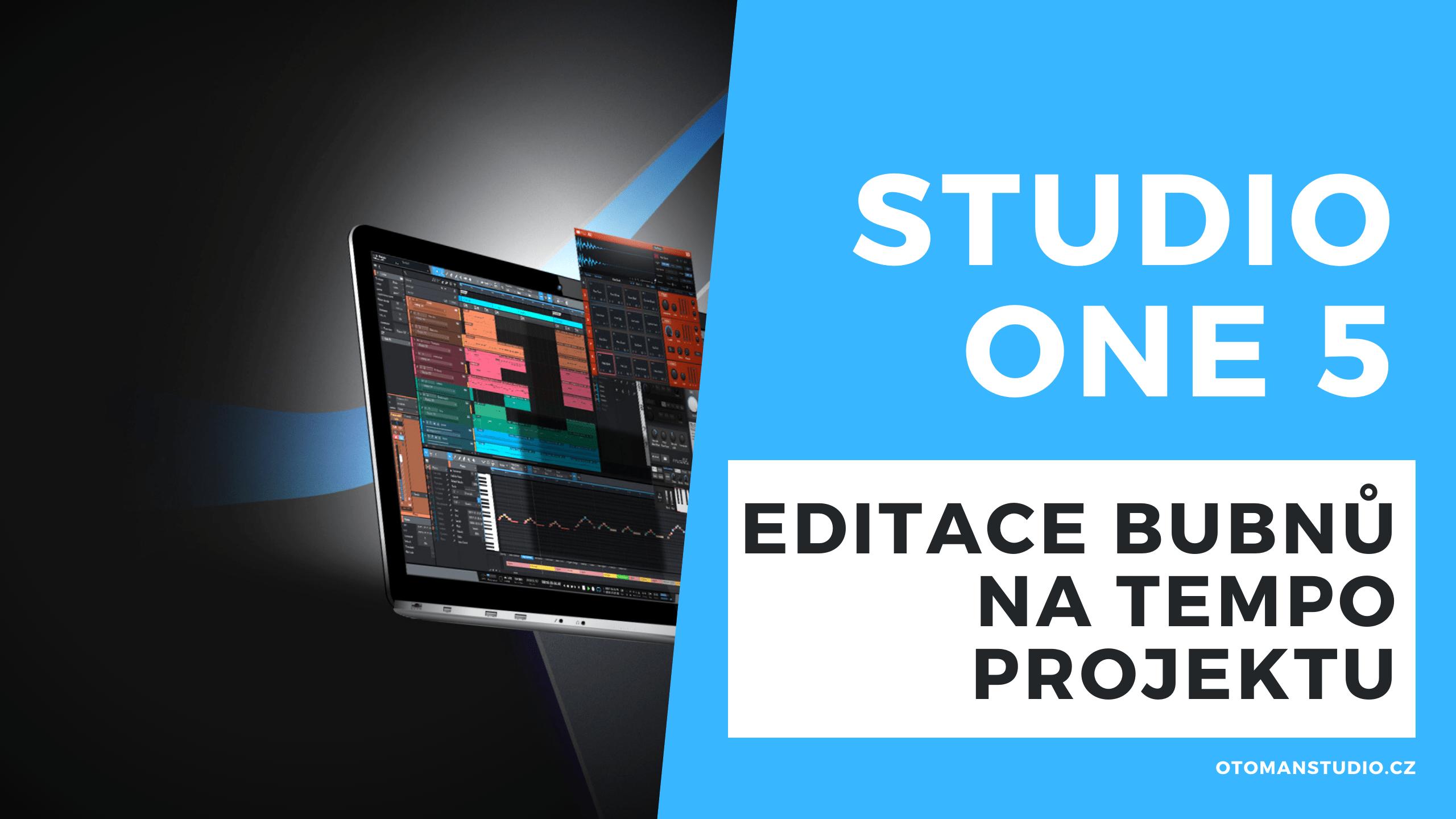 Studio One 5 – Editace bubnů na tempo projektu