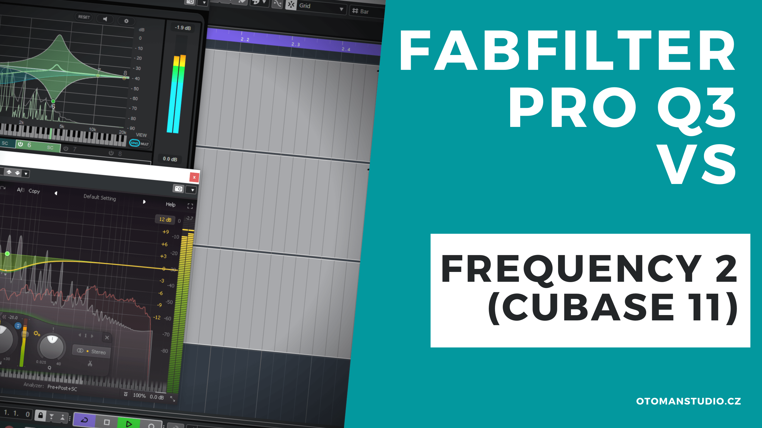 Fab Filter Pro Q3 vs Frequency 2 (Cubase 11)