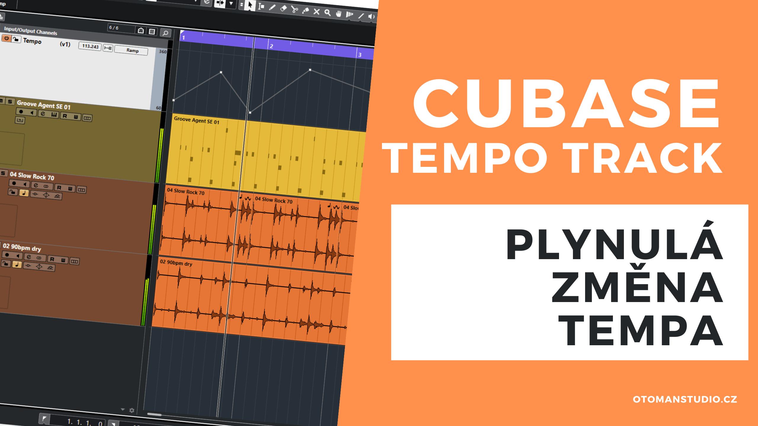 Cubase – Tempo Track – Plynulá změna Tempa