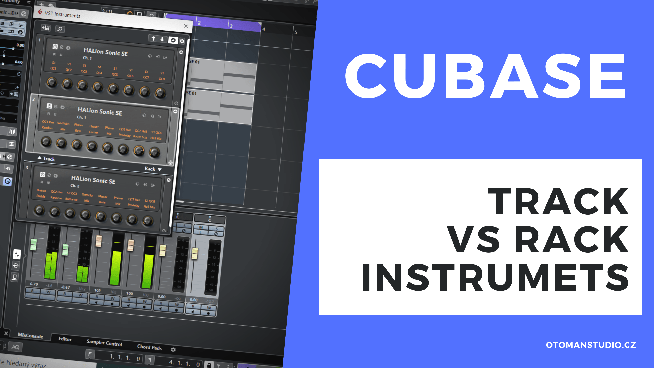 Cubase – TRACK vs RACK Instruments