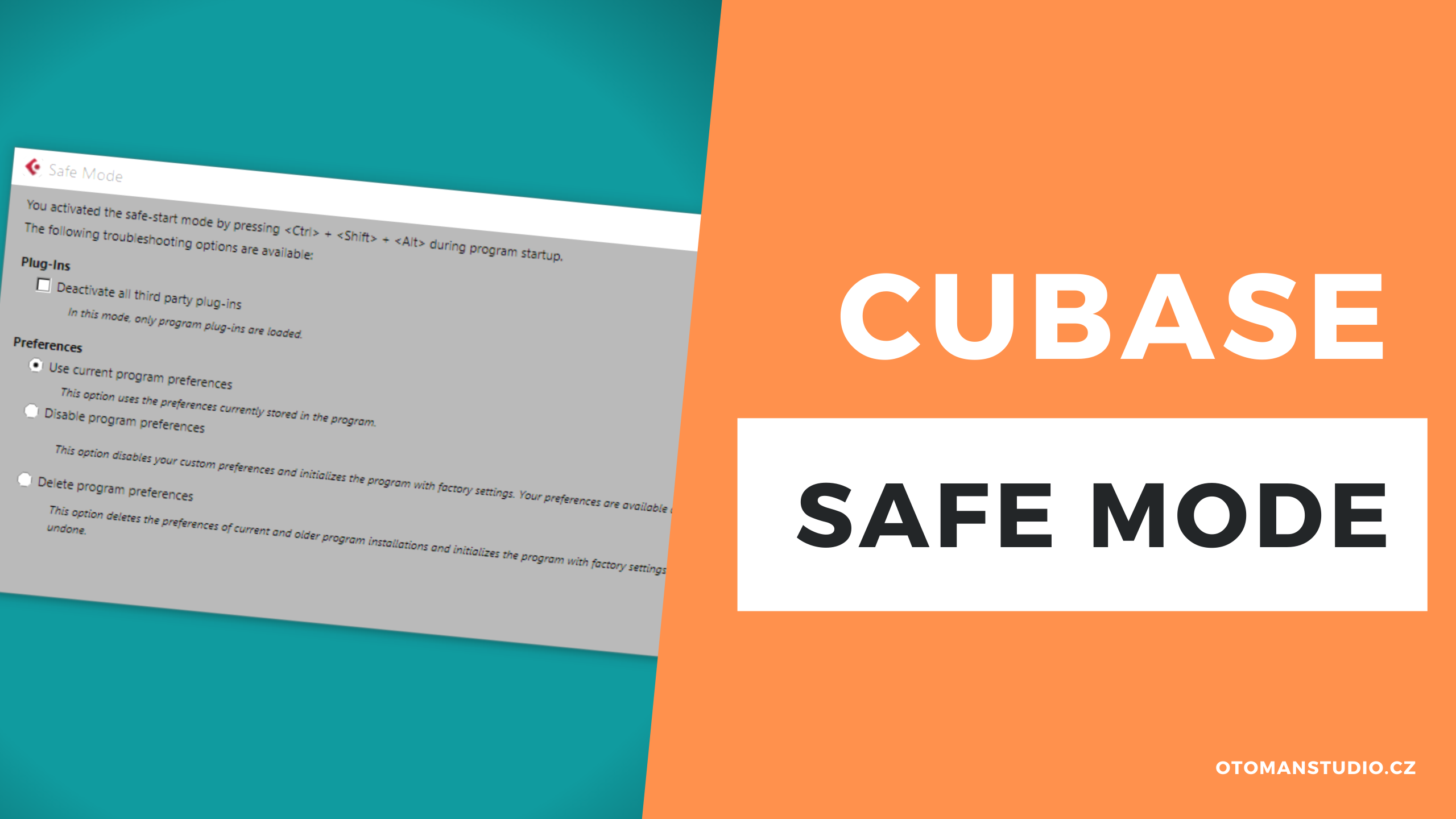 Cubase – Safe mode